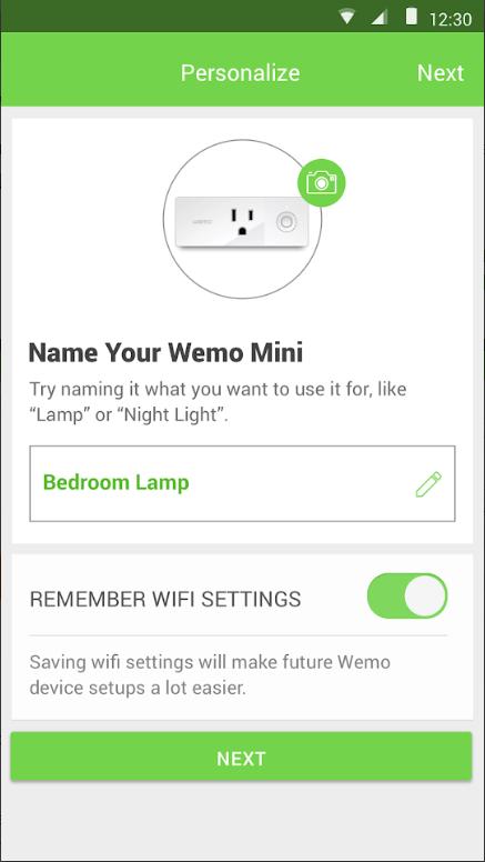 WeMo personalization