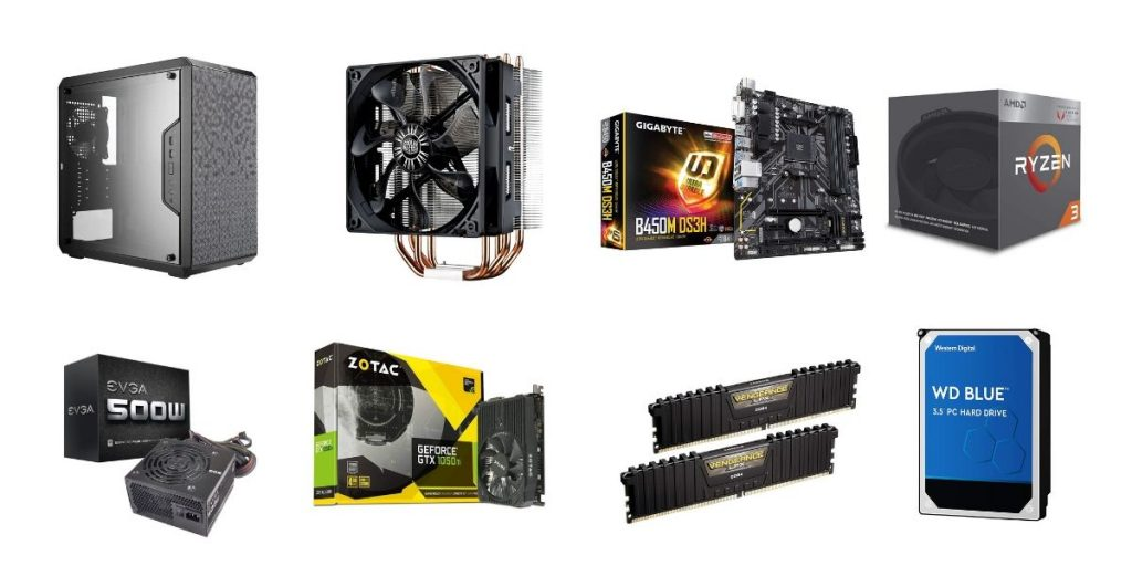 Example build for $600 Gaming PC